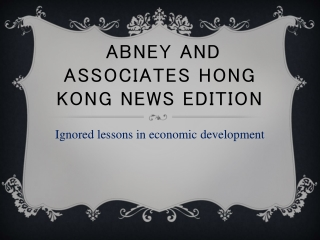abney and associates hong kong news edition | Ignored lesson
