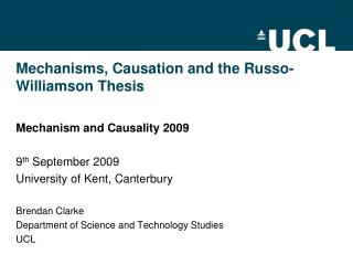 Mechanisms, Causation and the Russo-Williamson Thesis