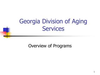 Georgia Division of Aging Services