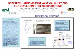 NSTX HIGH HARMONIC FAST WAVE CALCULATIONS FOR DEVELOPMENT OF CD OPERATIONS