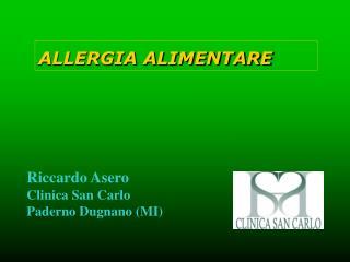 Riccardo Asero Clinica San Carlo Paderno Dugnano MI