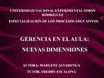 UNIVERSIDAD NACIONAL EXPERIMENTAL SIMON RODRIGUEZ   ESPECIALIZACION DE LOS PROCESOS EDUCATIVOS