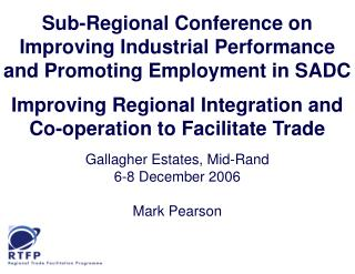 Sub-Regional Conference on Improving Industrial Performance ...