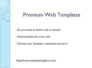 Premium Web Templates | Professional Web Templates