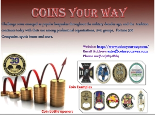 The benefits of custom challenge coins