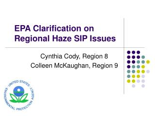 EPA Clarification on Regional Haze SIP Issues