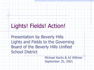 Lights Fields Action