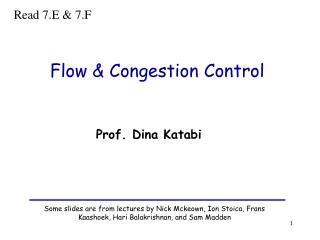 Flow  Congestion Control