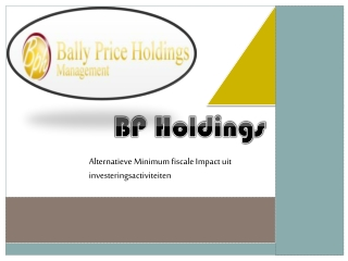 BP Holdings-Alternatieve Minimum fiscale Impact uit invester