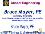 Bruce Mayer, PE Licensed Electrical  Mechanical Engineer BMayerChabotCollege