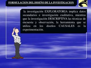 La investigaci n EXPLORATORIA implica datos secundarios e investigaci n cualitativa, mientras que la investigaci n DESCR
