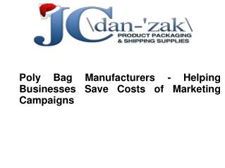 Poly Bag Manufacturers