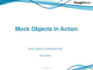 Mock Objects in Action
