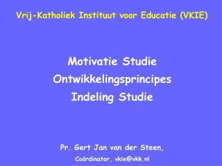 Vrij-Katholiek Instituut voor Educatie VKIE