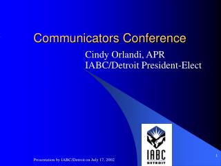 Communicators Conference