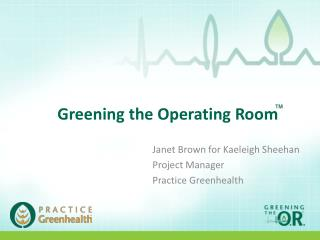 Greening the Operating Room
