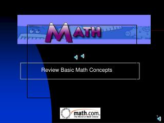 Review Basic Math Concepts