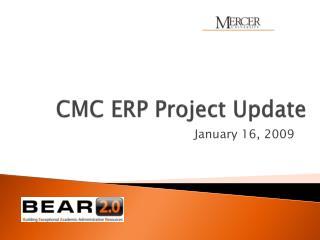 CMC ERP Project Update