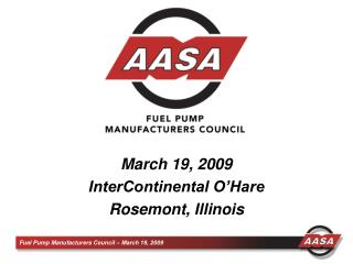 March 19, 2009 InterContinental O Hare Rosemont, Illinois