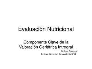 Evaluaci n Nutricional
