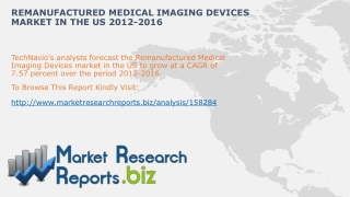 Worldwide Remanufactured Medical Imaging Devices Size And Sh