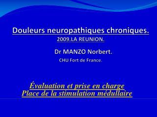 Douleurs neuropathiques chroniques.  2009.LA REUNION.    Dr MANZO Norbert.  CHU Fort de France.