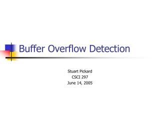 Buffer Overflow Detection