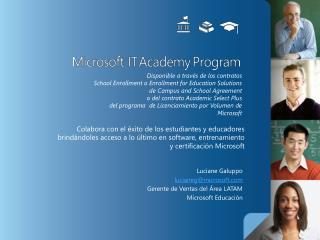 Colabora con el  xito de los estudiantes y educadores  brind ndoles acceso a lo  ltimo en software, entrenamiento y cert