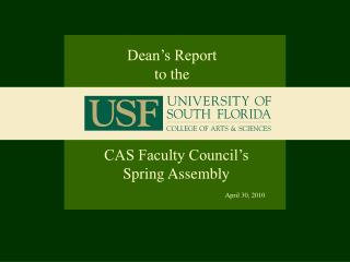 CAS Faculty Council s Spring Assembly