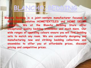 Designer Bedding Collections - Blancho-Bedding.com