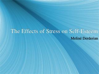 The Effects of Stress on Self-Esteem