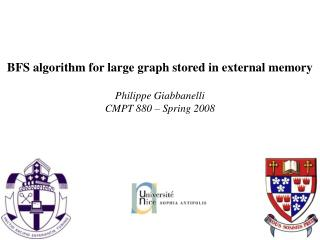 BFS algorithm for large graph stored in external memory