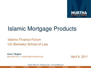 Islamic Mortgage Products