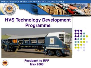 Feedback to RPF May 2008