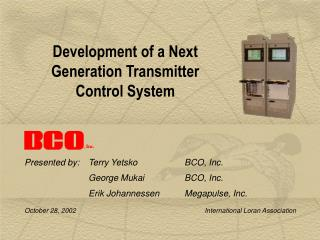 Development of a Next Generation Transmitter Control System