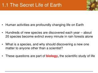 1.1 The Secret Life of Earth