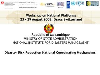 View National Platform presentation for Mozambique PPT 647.00 KB