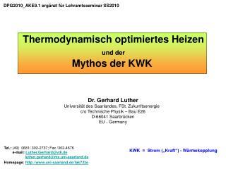 KWK    Strom  Kraft  - W rmekopplung