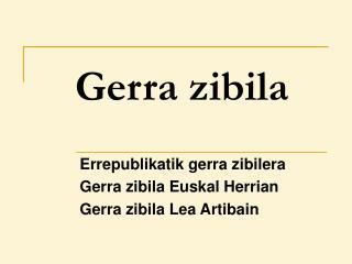 Gerra zibila