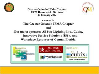 Greater Orlando IFMA Chapter  CFM Roundtable Webinar 10 January 2012