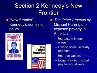 Section 2 Kennedy s New Frontier