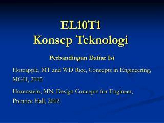 EL10T1 Konsep Teknologi