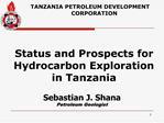 Sebastian J. Shana Petroleum Geologist