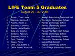 LIFE Team 5 Graduates August 29   30, 2008