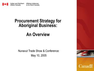 Procurement Strategy for Aboriginal Business:  An Overview