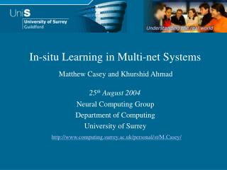 Neural Computing Group Department of Computing University of Surrey