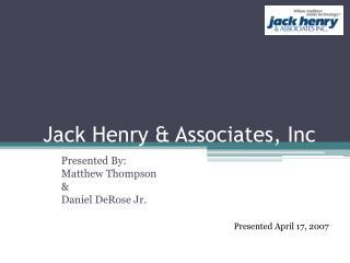 Jack Henry  Associates, Inc