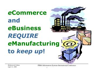 ECommerce  and eBusiness  REQUIRE  eManufacturing  to keep up