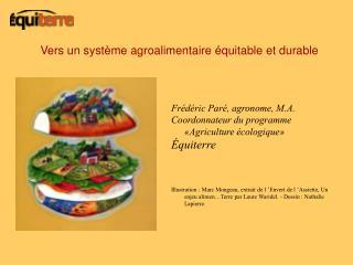Vers un syst me agroalimentaire  quitable et durable