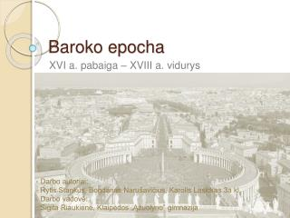 Baroko epocha